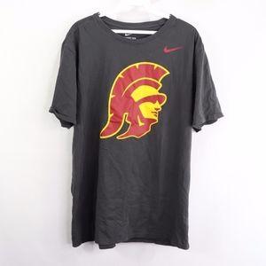 Nike USC Trojans Football Short Sleeve Shirt Gray